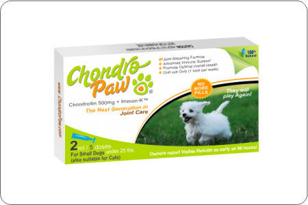 Chondropaw for Dogs Under 25lbs 5x2ml