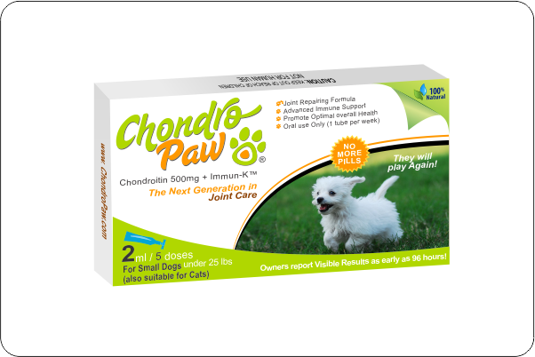 Chondropaw 174 For Dogs Under 25lbs Also Suitable For Cats
