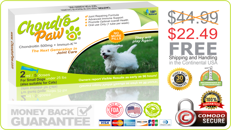 50% OFF on CHONDROPAW FOR SMALL DOGS
