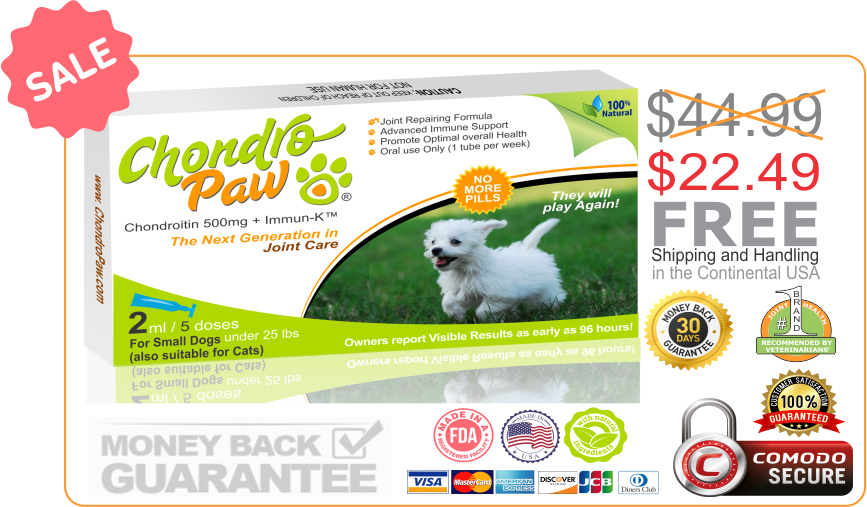 CHONDROPAW SALE FOR SMALL DOGS
