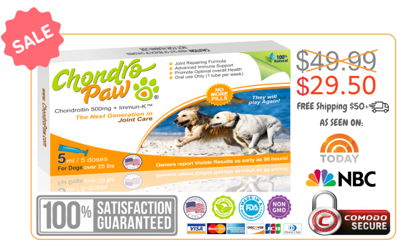 Chondropaw for Dogs Over 25 lbs Sale box