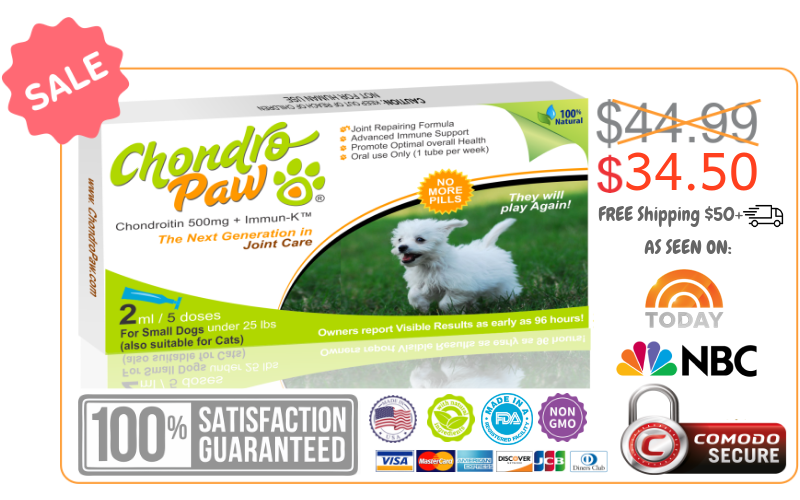 Chondropaw for dogs under 25lbs Offer